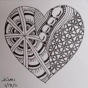 Zentangle heart stock vector. Illustration of abstract ... |Zentangle Heart Graphics